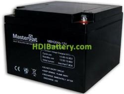 Bateria de Plomo 12 Voltios 26 Amperios (175x166x125mm)